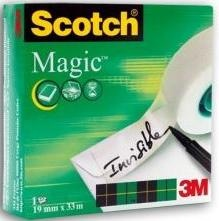 Лента клейкая SCOTCH MAGIC 8-1975D, на диспенсере, матовая, 19 ммх7,5 м 3M