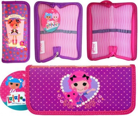 Пенал на одной молнии ACTION! LALALOOPSY,без наполнения,матовая ламинация,разм. 190х90 мм.,2 диз Action!