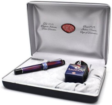 Шариковая ручка Aurora America Limited Edition, Colorful Marble ST