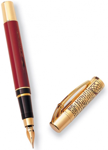 Перьевая ручка Aurora Leonardo Da Vinci Limited Edition, Gold Plated & Red Lacquer GT (Перо F)