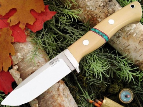 ��� � ������������� ������� Antique Ivory Micarta Turquoise Spacers Bark River