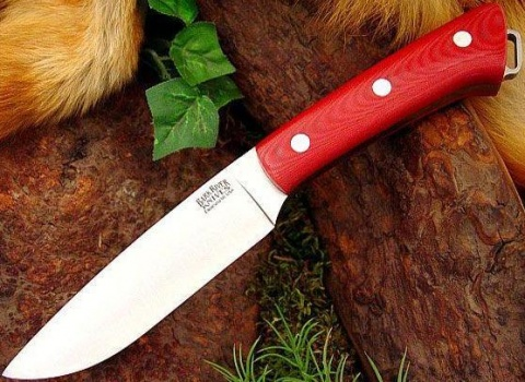 ��� � ������������� ������� Red Linen Micarta Bark River
