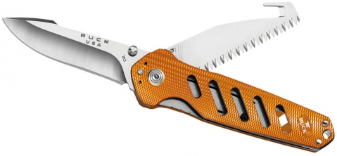 Нож складной Alpha Crosslock Folding Orange Buck