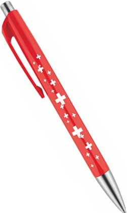 Шариковая ручка Caran d`Ache 888 Infinite, Swiss Cross Red