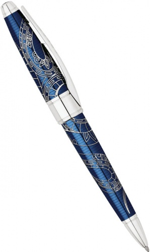 Ручка шариковая Cross Apogee Special Edition Year of the Snake 2013, Prosperity Blue Lacquer CT