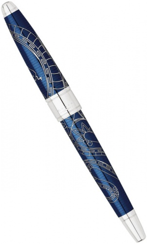 Перьевая ручка Cross Apogee Special Edition Year of the Snake 2013, Prosperity Blue Lacquer CT (Перо F)