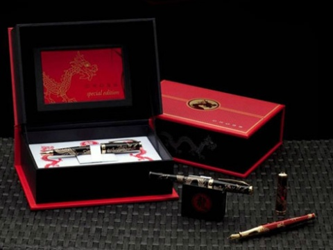 Ручка шариковая Cross Sauvage Special Edition Dragon Year 2012, Red GT