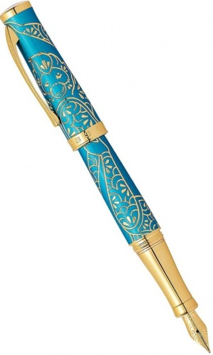 Ручка перьевая Cross Sauvage Year of the Monkey, Tibetan Teal Lacquer GT (Перо M)