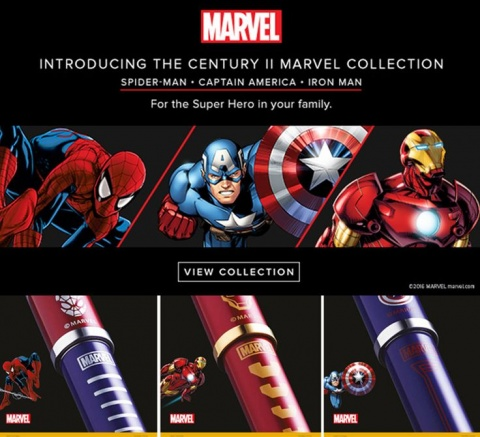 �����-������ Cross Century II Marvel �������� �������, Red / Gold