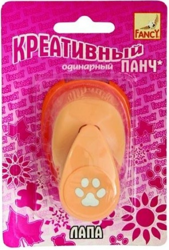 Панч креативный одинарный ЛАПА (d=16 мм) FANCY CREATIVE