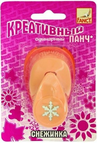 Панч креативный одинарный СНЕЖИНКА (d=16 мм) FANCY CREATIVE