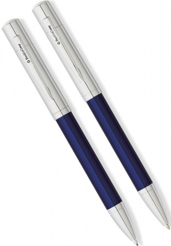 Набор Franklin Covey Greenwich: шариковая ручка и карандаш, Blue / Chrome