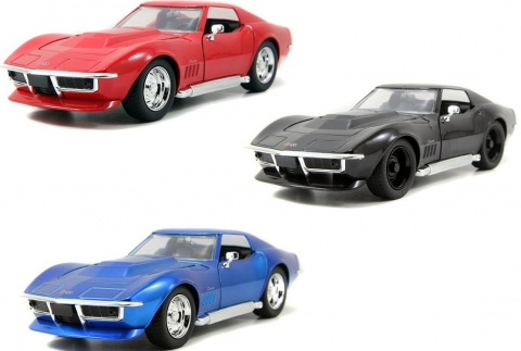Автомобиль Chevrolet Corvet Stingray - GM Rally (1969) 1:24 Jada Toys