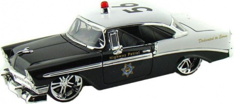 Автомобиль Chevy Bel Air Police (1956) 1:24 Jada Toys