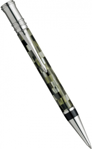 Ручка шариковая Parker Duofold Check Olive K108, Green PT