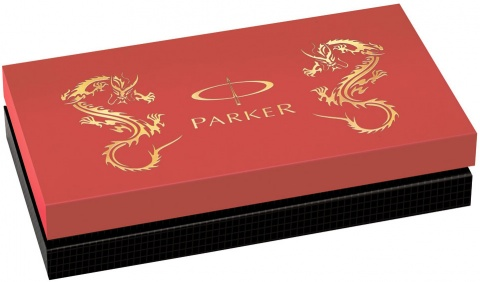 Ручка-5й пишущий узел Parker Ingenuity Slim F502 Limited Edition, Red Dragon GT