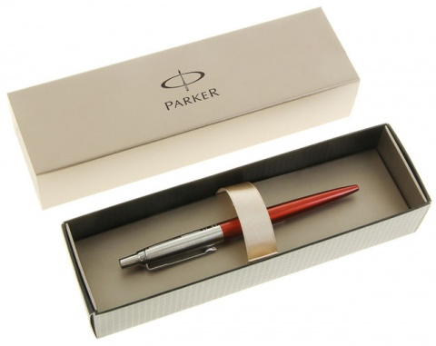 Ручка шариковая Parker Jotter 125th Special Edition K173, Metallic Red CT