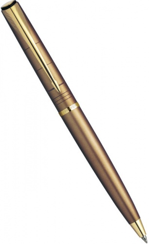 Ручка шариковая Parker Latitude K197, Shimmery Copper GT, Brown