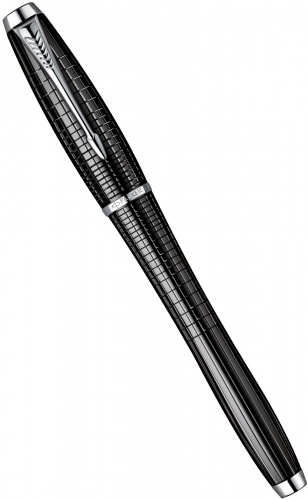 Перьевая ручка Parker Urban Premium F204, Ebony Metal Chiselled CT
