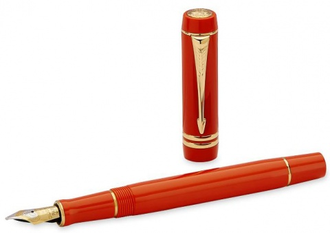 Перьевая ручка Parker Duofold Historical Colors Centennial F77, Big Red GT (Перо M)