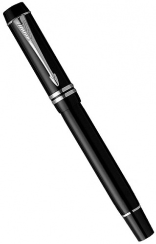 Перьевая ручка Parker Duofold International F89, Black PT (Перо M)
