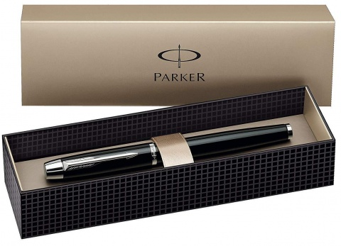 Перьевая ручка Parker IM Metal F221, Deep Black CT (Перо M)
