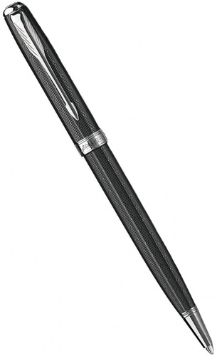 Шариковая ручка Parker Sonnet Chiselled K550, Carbon CT