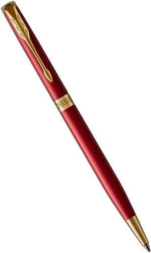 Шариковая ручка Parker Sonnet Slim Core K439, Lacquer Intense Red GT