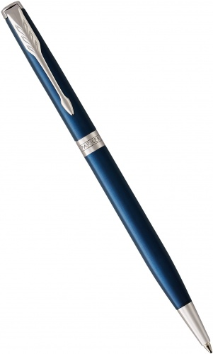 Шариковая ручка Parker Sonnet Slim Core K439, Subtle Blue Lacquer CT