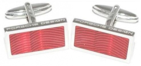 Запонки Sterling Silver Lacquer red Porsche Design