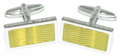 Запонки Sterling Silver Lacquer yellow Porsche Design