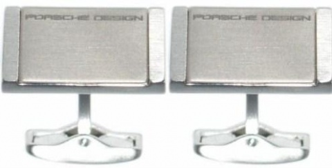 Запонки Stainless Steel Titanium grey Porsche Design