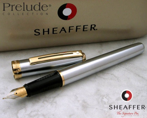 Перьевая ручка Sheaffer Prelude, Brushed Chrome Plate Finish GT (Перо F)