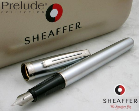 Перьевая ручка Sheaffer Prelude, Brushed Chrome Plate Finish Nickel CT (Перо F)