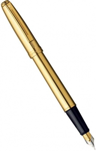 Перьевая ручка Sheaffer Prelude, Fluted Gold Plate GT (Перо F)
