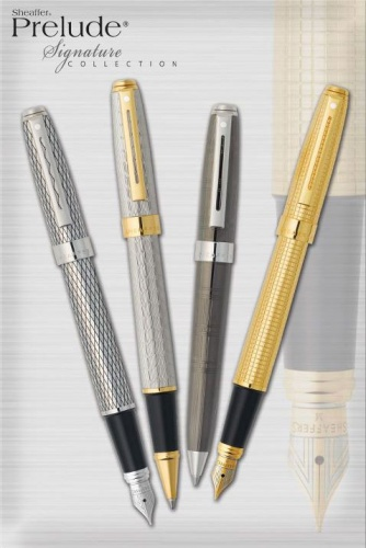 Шариковая ручка Sheaffer Prelude, Signature Engraved Diamond Square Gold Plate GT