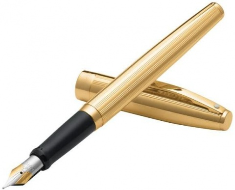 Перьевая ручка Sheaffer Sagaris, Fluted Gold Tone GT (Перо F)