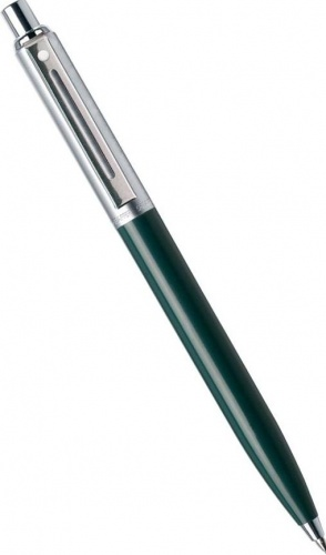 Шариковая ручка Sheaffer Sentinel, Chrome Plated Cap Resin Green CT