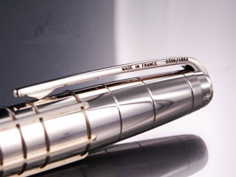 Ручка шариковая Ligne French Line S.T.Dupont, Black / Silver