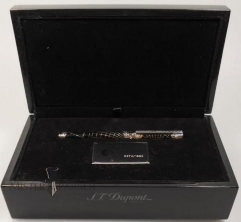 Ручка-роллер S.T.Dupont Shoot the Moon Premium, Black / Silver