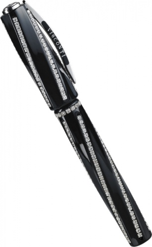 Перьевая ручка Visconti Divina Royale Nero, Black PT (Перо M)