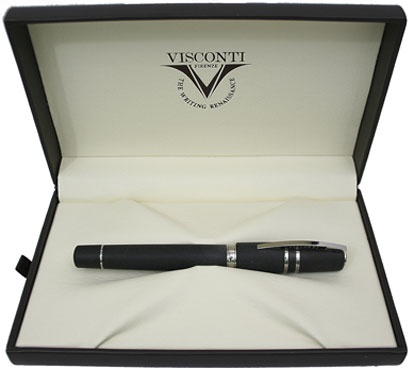 Перьевая ручка Visconti Homo Sapiens Steel Age Medium, Black CT (Перо F)