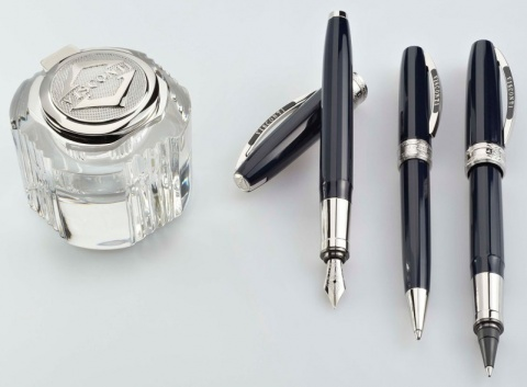Шариковая ручка Visconti Michelangelo, Blue-Black PT
