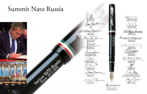 Перьевая ручка Visconti NATO-Russia Summit Limited Edition, Black CT