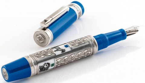Перьевая ручка Visconti The Twelve Tribes Limited Edition, Blue ST (Перо F)