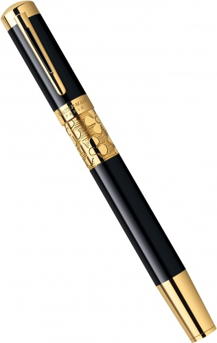 Перьевая ручка Waterman Elegance, Black GT (Перо F)