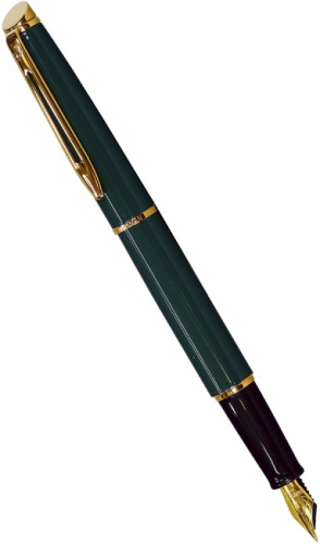 Ручка перьевая Waterman Hemisphere, China Green (Перо F)