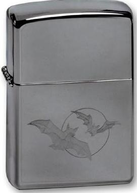 Зажигалка Zippo Bats, High Polish Chrome