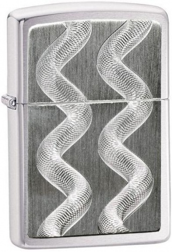 Зажигалка Zippo Twin Twister Brushed Chrome