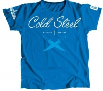 CS_ Cross Guard Blue Tee for Women (L) - футболка голубая жен., разм. L,Cold Steel TK3